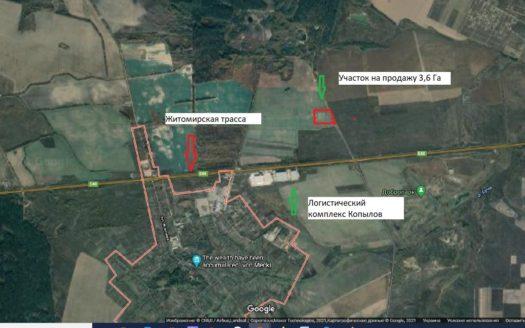 Sale land plot 362 acres Kopyliv